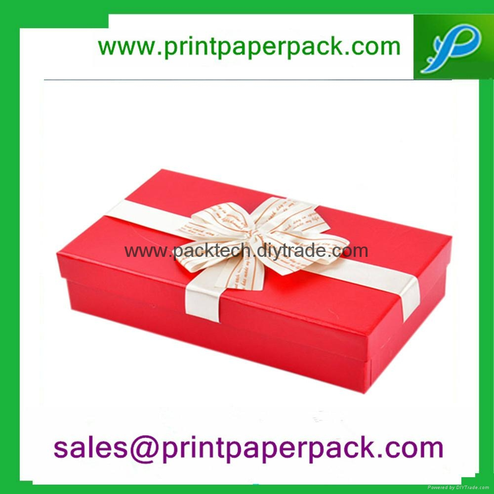 Round Hat Printed Paper Jewelry gift Box with Ribbon 4