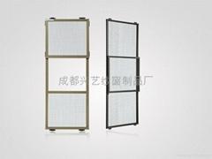 三节式防护纱窗