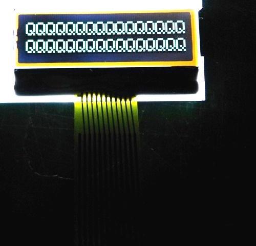 1602字符LCM|密碼鎖LCD模組|門禁指紋機LCM 5