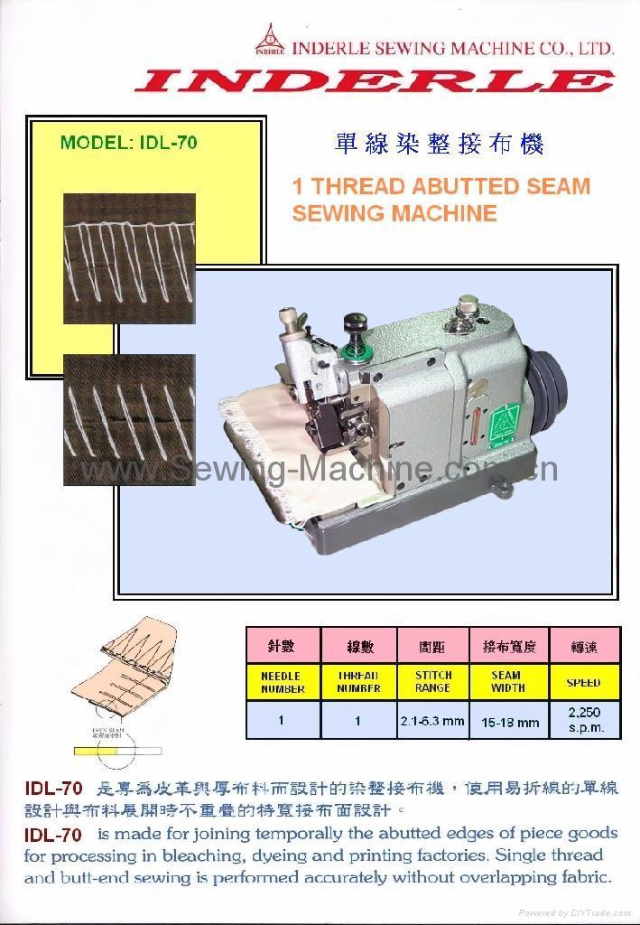 IDL-70 ONE THREAD ABUTTED SEAM SEWING MACHINE 1