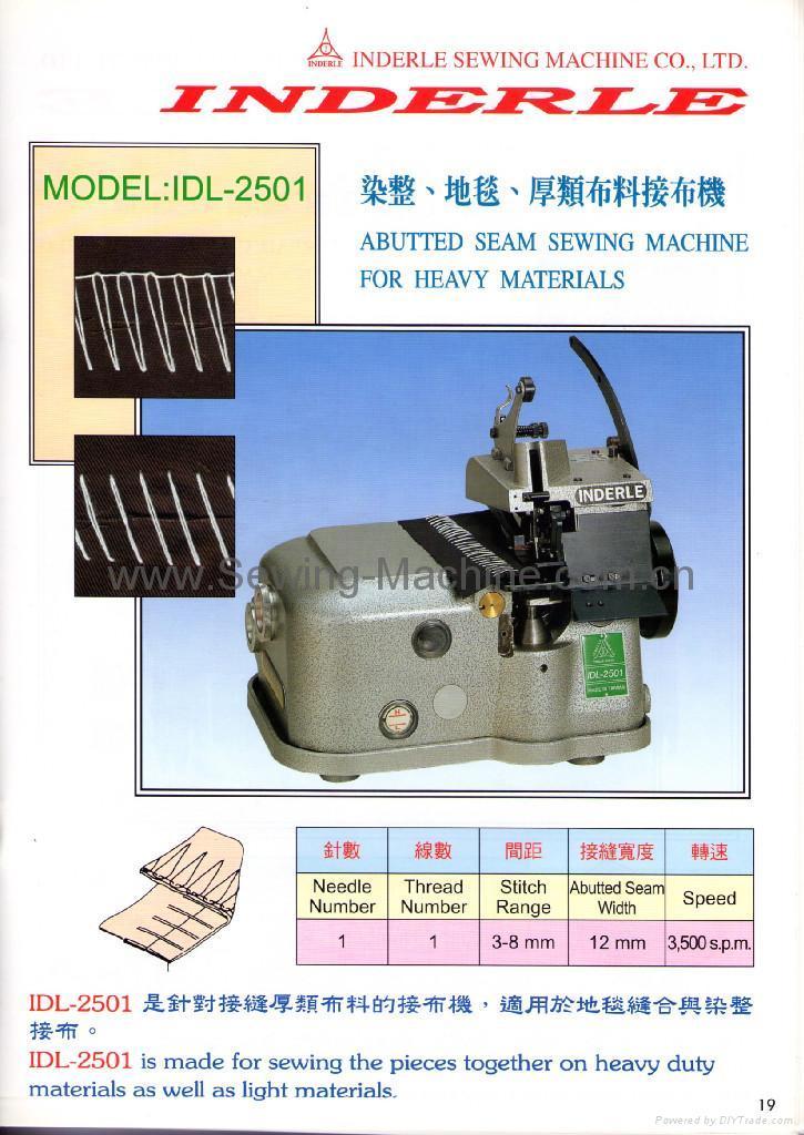 IDL-2501K ONE THREAD ABUTTED SEAM SEWING MACHINE 1