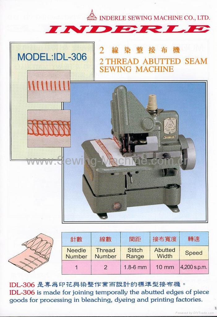 IDL-306 TWO THREAD ABUTTED SEAM SEWING MACHINE 1