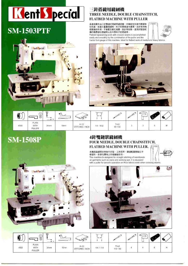 Multi-Needle Double Chainstitch Sewing Machine