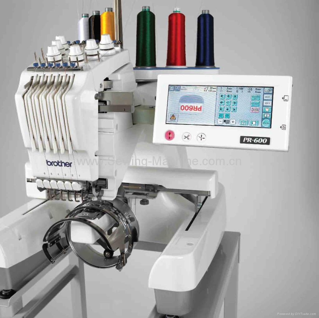 PR-655e Single-head, 6-needle Table Embroidery Machine 2