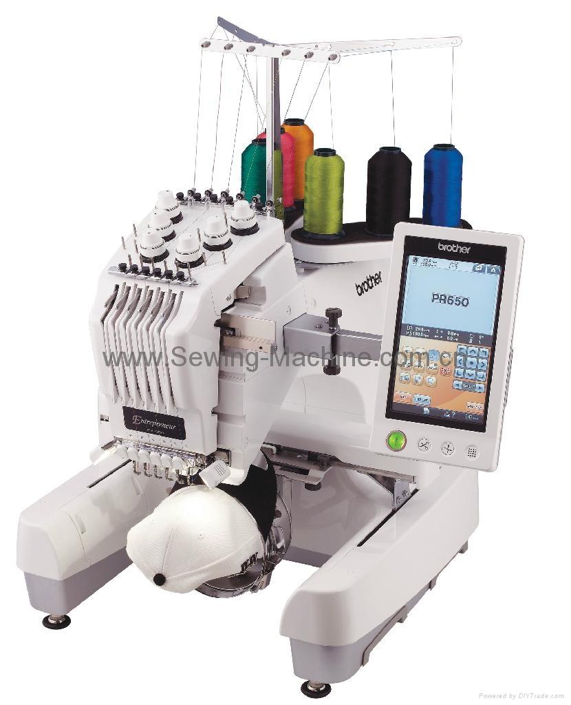 PR-655e Single-head, 6-needle Table Embroidery Machine 1
