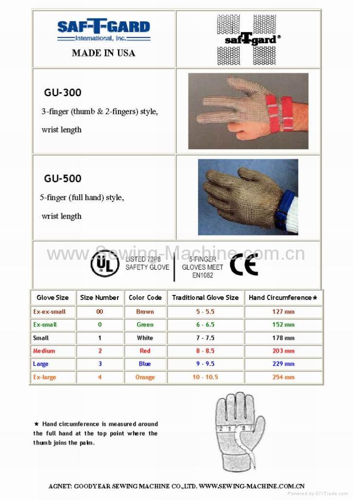 Saf-T-Gard Stainless Steel Metal Mesh Gloves 5