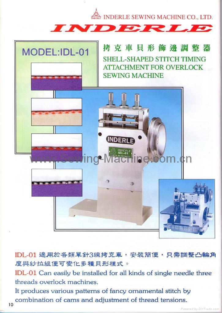 SHELL-SHAPED STITCH TIMING ATTACHMENT FOR OVERLOCK SEWING MACHINE