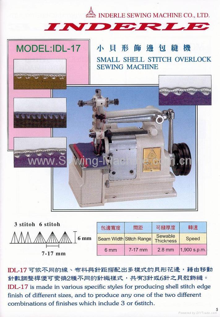 SMALL SHELL STITCH OVERLOCK SEWING MACHINE 1