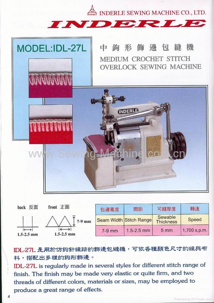 MEDIUM CROCHET STITCH OVERLOCK SEWING MACHINE 1