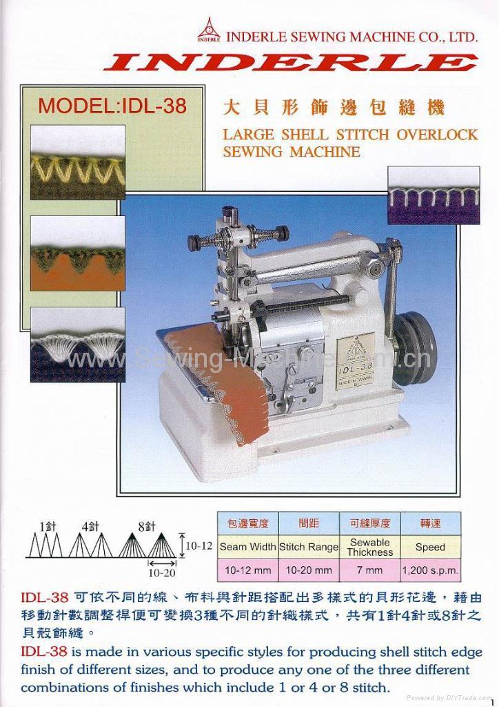 LARGE SHELL STITCH OVERLOCK SEWING MACHINE 1