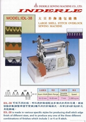 LARGE SHELL STITCH OVERLOCK SEWING MACHINE