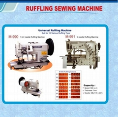 Pleating sewing machine