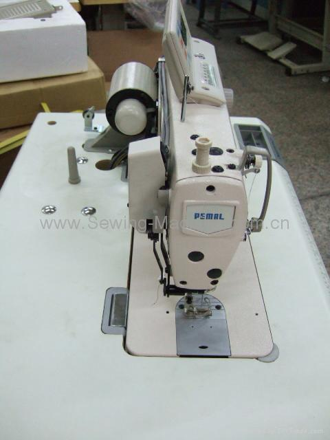 1-NEEDLE LOCKSTITCH MACHINE W/AUTO THREAD TRIMMER + SERVO MOTOR & CONTROL PANEL  5
