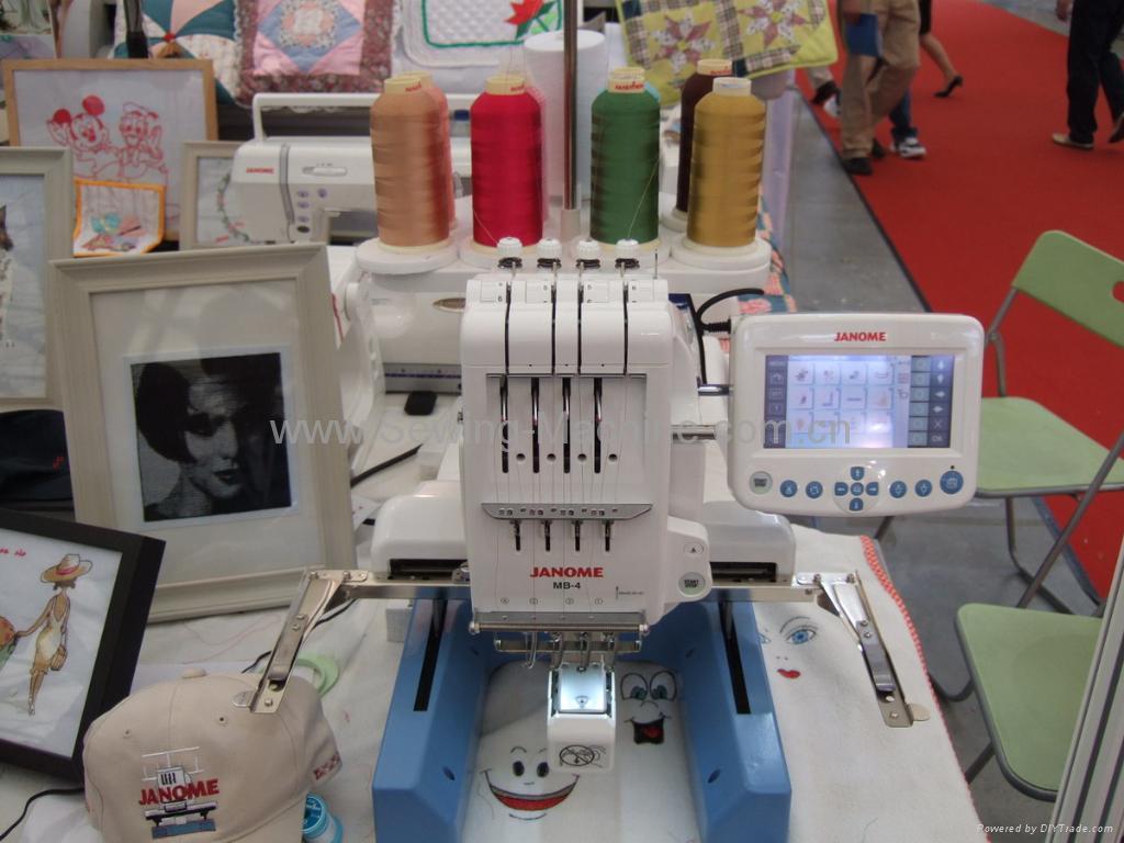 table single-head 4-needle embroidery machine - china