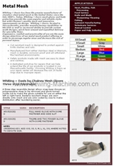 Whting & Davis Stainless Steel Metal Mesh Gloves