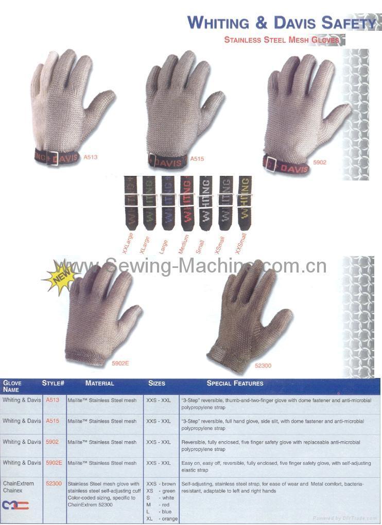 Whting & Davis Stainless Steel Metal Mesh Gloves 2