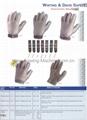 Whting & Davis 不锈钢手套,钢丝手套