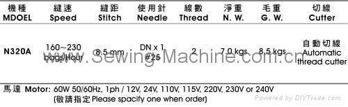 台湾耀瀚牌N320A 双线厚料手提缝包机 2