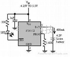 单节锂电线性充电IC-PT6102