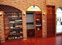 紅酒展櫃訂做廠家