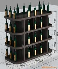 实木红酒展柜
