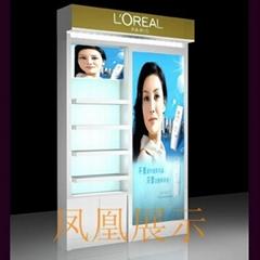 靠墙木质烤漆化妆品高柜定制