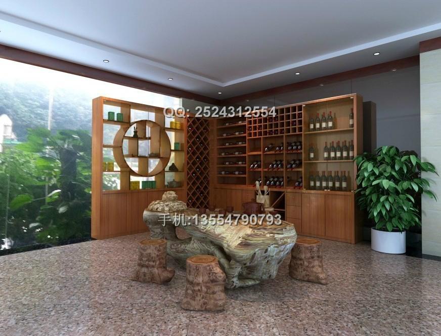 高檔紅酒展櫃訂做 1