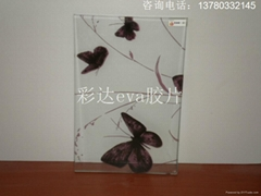 paint film with pattern for lamination glass