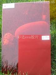 decorative colored laminate glass eva film for outdoor