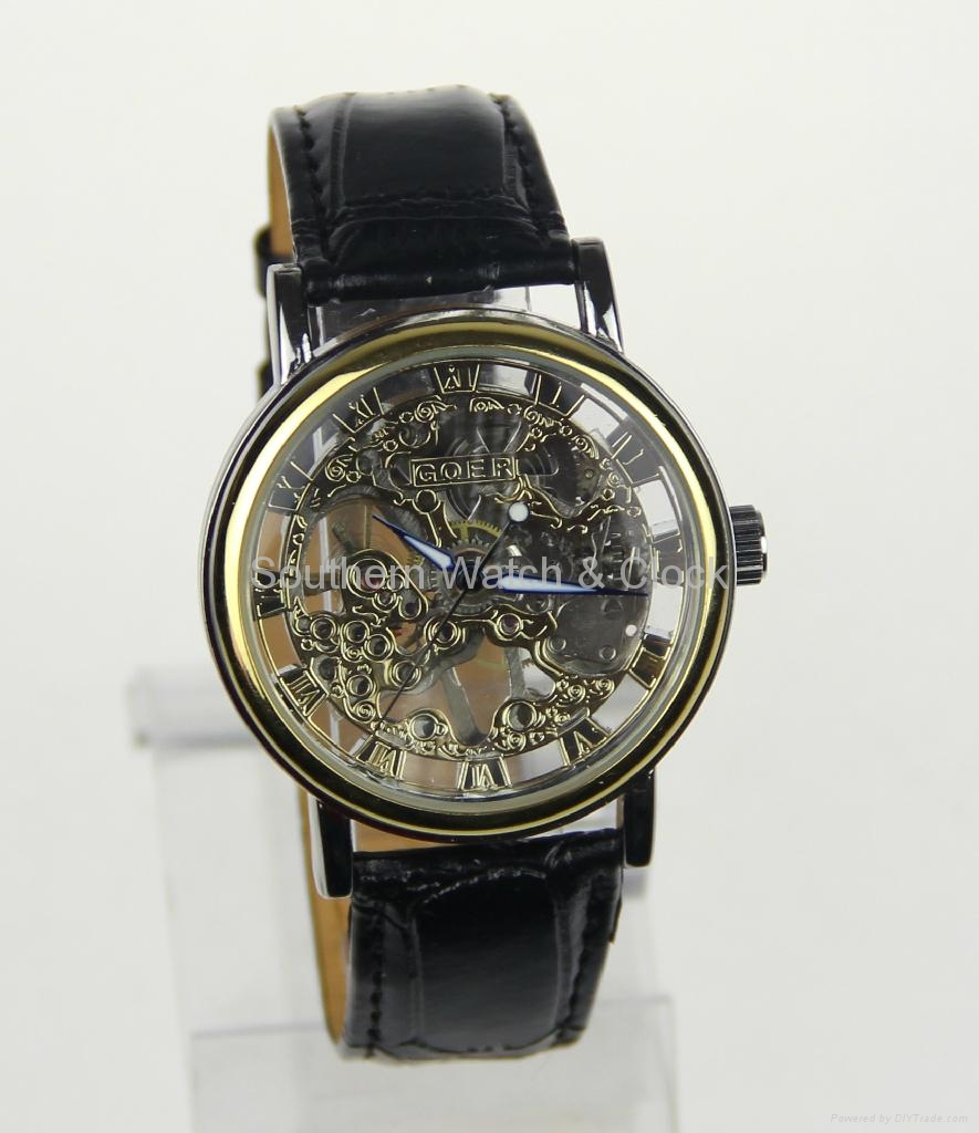 Mechanical skeleton watch SNT-M3765 1