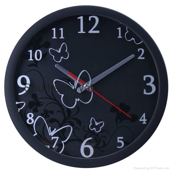 plastic art wall clock  SNT-CL042 4