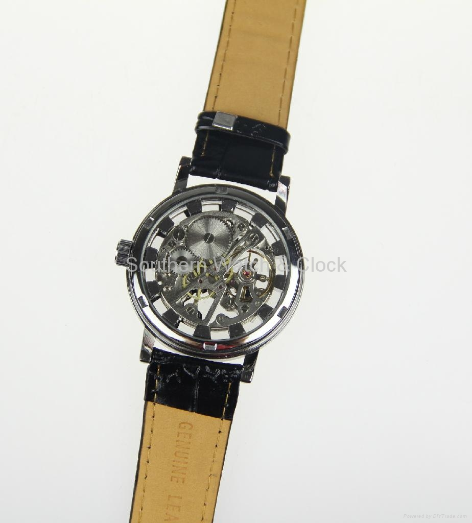 Mechanical skeleton watch SNT-M3765 2