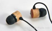 wood earphone