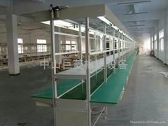 Bilateral long aluminum bench belt line