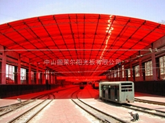 Polycarbonate sheet for train tents