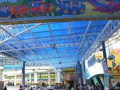 阳光板公共设施采光顶棚