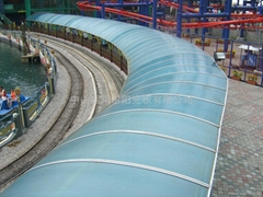2015 UV resistant Plastic polycarbonate building roof for rain tents