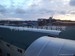 Polycarbonate sheet for roof light