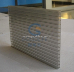 Polycarbonate Si  er color Twin-wall sheet