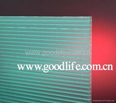 Polycarbonate Twin-wall sheet Green color