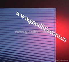 Polycarbonate Twin-wall sheet Blue color