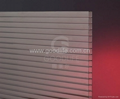 Bronze color Polycarbonate Twin-wall sheet