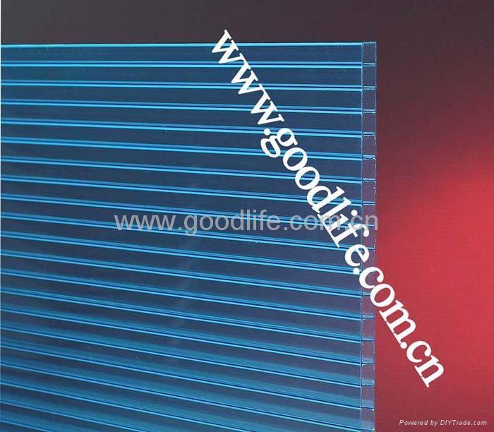 Polycarbonate Twin-wall sheet Lake-blue 1