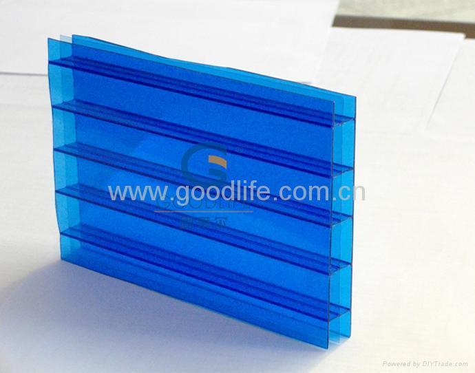 Polycarbonate Triple-wall sheet (Blue color) 1