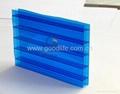 Polycarbonate Triple-wall sheet (Blue color) 2