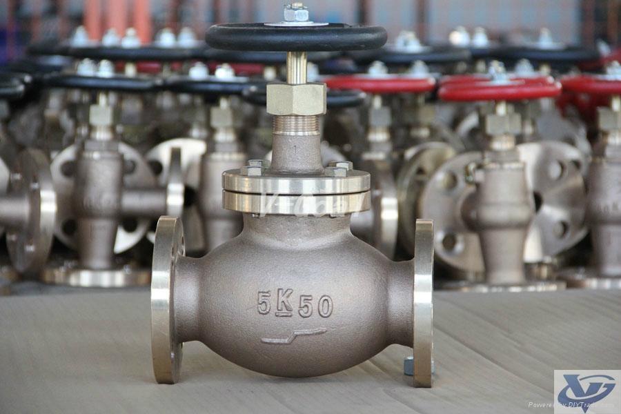 Marine Bronze or Brass Globe valve 2