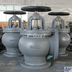 Marine valve Cast Iron Globe Angle valve 5k 10k 16k