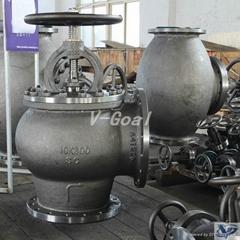 JIS Marine valve Cast Steel Globe Angle valve
