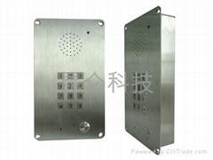 工業電梯電話機,嵌入式電梯電話機,潔淨室電話,KNZD-15
