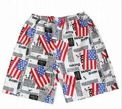Mens Summer Fashion Quick-dry Beach Fifth Pants Short